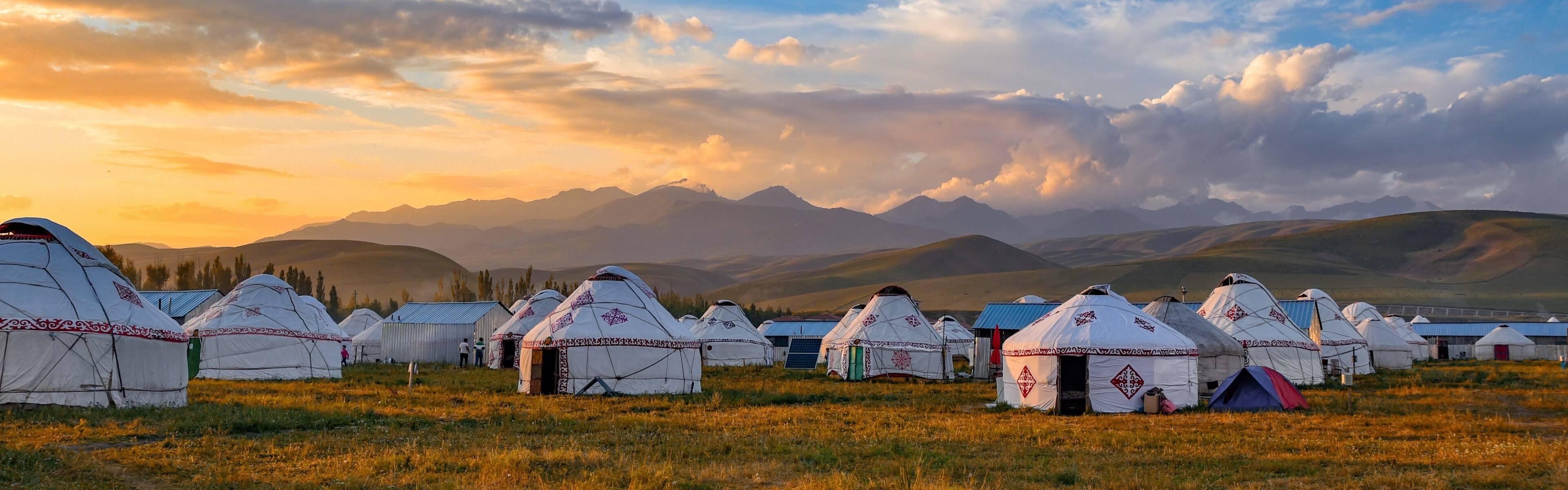 Traditional Mongolian yurts