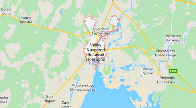 Velikiy Novgorod on the Russia Map