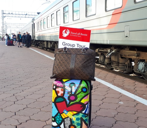 Travel All Russia Trans Siberian Tour Meeting Sign
