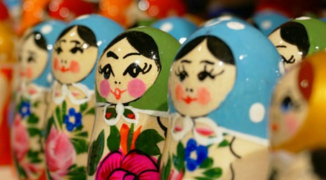 Several traditional Matryoshka dolls