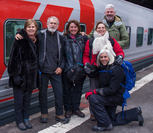 Bailey Family with RZD Train