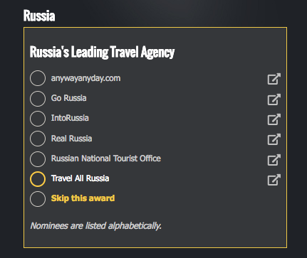 Voting for Travel All Russia