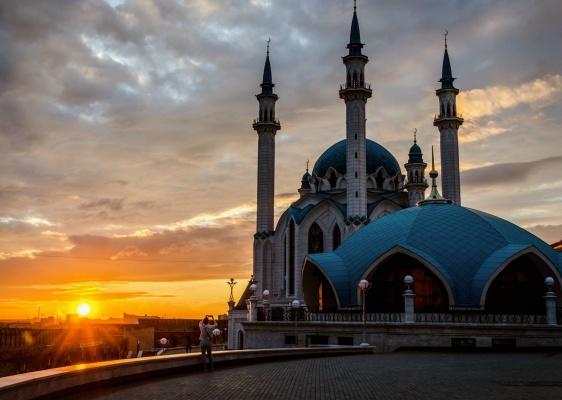 Kazan Kremlin during the golden hour