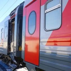 Regular Russian RZHD Train